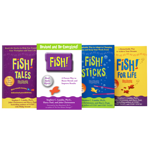 Fish book bundle creators of fish philosophy training for Fish philosophy video