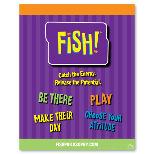 Posters archives creators of fish philosophy training for Fish philosophy book