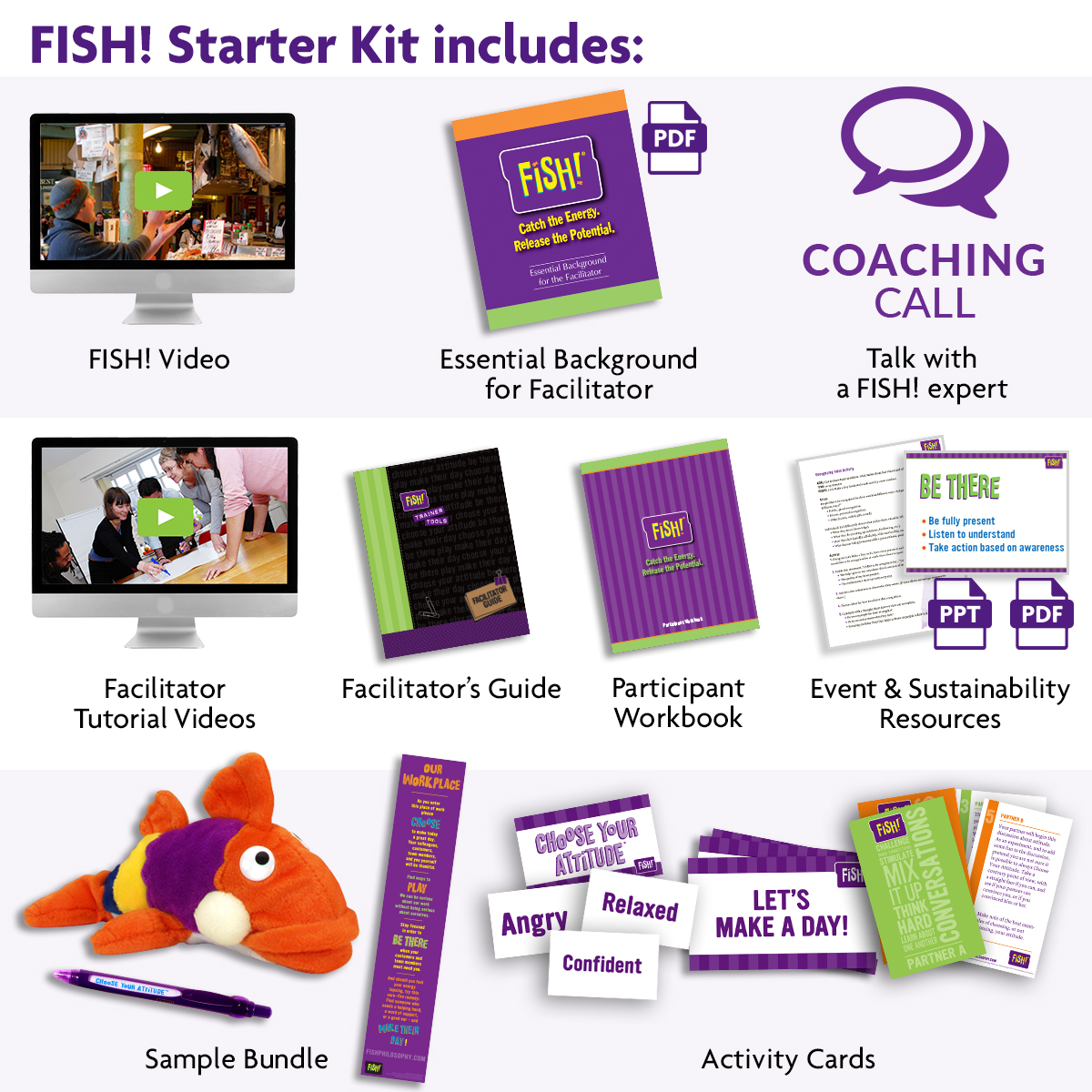 Fish starter kit creators of fish philosophy training for Fish philosophy book